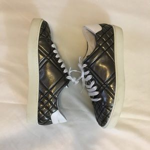 Burberry Leather Sneaker Silver Size 10